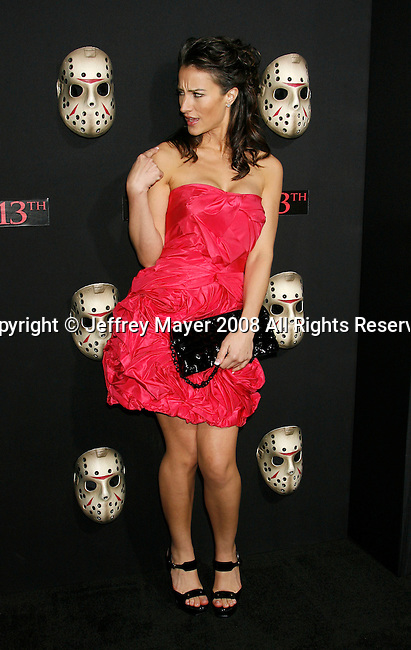 """HOLLYWOOD, CA. - February 09: Actress America Olivo arrives at the Los Angeles premiere of """"Friday The 13th"""" at Grauman's Chinese Theater on February 9, 2009 in Hollywood, California."""
