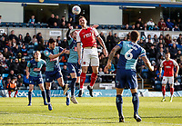 Fleetwood Town's Ashley Eastham heads <br /> <br /> Photographer Andrew Kearns/CameraSport<br /> <br /> The EFL Sky Bet League One - Wycombe Wanderers v Fleetwood Town - Saturday 4th May 2019 - Adams Park - Wycombe<br /> <br /> World Copyright © 2019 CameraSport. All rights reserved. 43 Linden Ave. Countesthorpe. Leicester. England. LE8 5PG - Tel: +44 (0) 116 277 4147 - admin@camerasport.com - www.camerasport.com