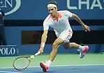 Roger Federer (SUI) defeats Steve Darcie (BEL) 6-1, 6-2, 6-1