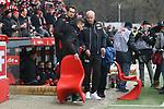 10.02.2018, Stadion an der Wuhlheide, Berlin, GER, 2.FBL, 1.FC UNION BERLIN  VS. Fortuna Duesseldorf, im Bild <br /> Cheftrainer (Head Coach) Andre Hofschneider(1.FC Union Berlin), Co-Trainer Sebastian Boenig (1.FC Union Berlin) <br /> <br />      <br /> Foto &copy; nordphoto / Engler
