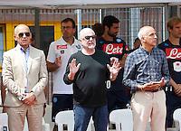Arcivescovo di Napoli cardinale Sepe in Visita al ritiro del Calcio Napoli<br /> ritiro precampionato Napoli Calcio a  Dimaro 28 Luglio 2015<br /> <br /> Preseason summer training of Italy soccer team  SSC Napoli  in Dimaro Italy July 11, 2015