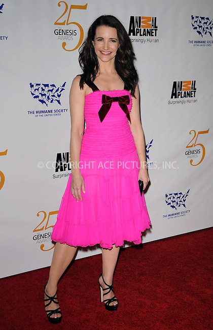 WWW.ACEPIXS.COM . . . . . ....March 19 2011, Los Angeles....Kristin Davis arriving at the 25th Anniversary Genesis Awards hosted by the Humane Society of the United States  at the Hyatt Regency on March 19, 2011 in Century City, California.....Please byline: PETER WEST - ACEPIXS.COM....Ace Pictures, Inc:  ..(212) 243-8787 or (646) 679 0430..e-mail: picturedesk@acepixs.com..web: http://www.acepixs.com