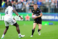 Rhys Priestland of Bath Rugby in possession. European Rugby Challenge Cup Quarter Final, between Bath Rugby and CA Brive on April 1, 2017 at the Recreation Ground in Bath, England. Photo by: Patrick Khachfe / Onside Images