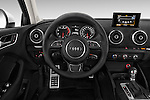 Steering wheel view of a 2015 Audi A3 2.0 T DSG 4 Door Sedan