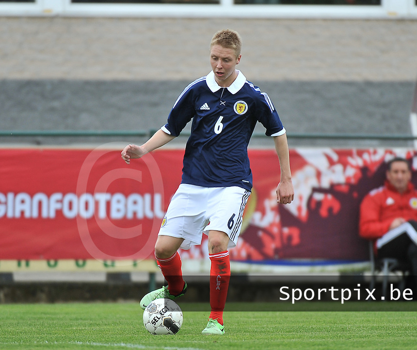 Scotland U19 - Georgia U19 : Jamie Lindsay.foto DAVID CATRY / Nikonpro.be