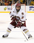Nathan Gerbe (Boston College - Oxford, MI)- The Boston College Eagles defeated the Harvard University Crimson 3-1 in the first round of the 2007 Beanpot Tournament on Monday, February 5, 2007, at the TD Banknorth Garden in Boston, Massachusetts.  The first Beanpot Tournament was played in December 1952 with the scheduling moved to the first two Mondays of February in its sixth year.  The tournament is played between Boston College, Boston University, Harvard University and Northeastern University with the first round matchups alternating each year.