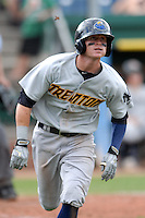 Trenton Thunder outfielder Ben Gamel (4) during a game versus the Portland Sea Dogs at Hadlock Field in Portland, Maine on September 1, 2013. (Ken Babbitt/Four Seam Images)