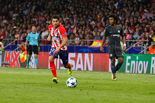27th September 2017, Wanda Metropolitano, Madrid, Spain; UEFA Champions League, Atletico Madrid versus Chelsea; Nicolas Gaitan (22) Atletico de Madrid