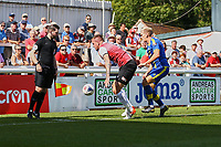 Benjamin Gerring of Woking and Danny Wright of Solihull Moors during Woking vs Solihull Moors, Vanarama National League Football at The Laithwaite Community Stadium on 24th August 2019