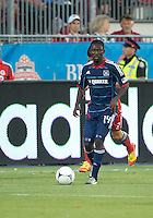 12 September 2012: Chicago Fire forward Patrick Nyarko #14 in action during an MLS game between the Chicago Fire and Toronto FC at BMO Field in Toronto, Ontario..The Chicago Fire won 2-1..