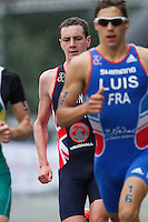 15 SEP 2013 - LONDON, GBR - Alistair Brownlee (GBR) (left) of Great Britain during the run at the elite men's ITU 2013 World Triathlon Series Grand Final in Hyde Park, London, Great Britain (PHOTO COPYRIGHT © 2013 NIGEL FARROW, ALL RIGHTS RESERVED)