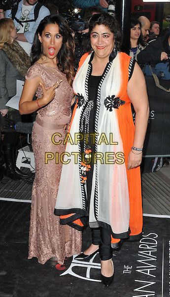 LONDON, ENGLAND - APRIL 17: Preeya Kalidas &amp; Gurinder Chadha attend the Asian Awards 2015, Grosvenor House Hotel, Park Lane, on Friday April 17, 2015 in London, England, UK. <br /> CAP/CAN<br /> &copy;Can Nguyen/Capital Pictures