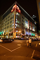 Montreal (Qc) Canada - July 12 2009 - Downtown Montreal at night :Scotia Bank Cinema