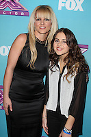 LOS ANGELES, CA - DECEMBER 17: Britney Spears and Carly Rose Sonenclar at Fox's 'The X Factor' season finale news conference at CBS Televison City on December 17, 2012 in Los Angeles, California. Credit: mpi26/MediaPunch Inc. /NortePhoto
