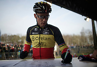 Sven Nys (BEL/Crelan-AAdrinks) signing in in his own Grand Prix<br /> <br /> GP Sven Nys 2015