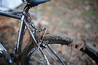 blocked brakes<br /> <br /> Superprestige Gavere 2014