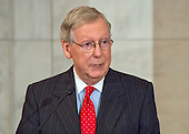 United States Senate Majority Leader Mitch McConnell (Republican of Kentucky) makes remarks at the ceremony where the official portrait of US Senate Minority Leader Harry Reid (Democrat of Nevada) is to be unveiled in the Kennedy Caucus Room on Capitol Hill in Washington, DC on Thursday, December 8, 2016.<br /> Credit: Ron Sachs / CNP