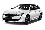 2019 Peugeot 508 GT-Line 5 Door Wagon angular front stock photos of front three quarter view