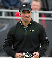 15.10.2014. The London Golf Club, Ash, England. The Volvo World Match Play Golf Championship.  Day 1 group stage matches.  Paul Casey [ENG] on the first tee.