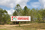 In Cuba, no advertising but politics billboards about Castro, El Che and Hugo Chavez president of Venezuela