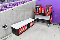 Orlando, FL - Saturday July 20, 2019:  BodyArmor water jugs and cooler prior to a regular season National Women's Soccer League (NWSL) match between the Orlando Pride and the Sky Blue FC at Exploria Stadium.