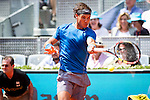 The tennis player Rafa Nadal during the match against Jarkko Nieminen in the Madrid Open Tennis Tournament. In Madrid, Spain, on 08/05/2014.