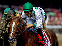 SARATOGA SPRINGS, NY - AUGUST 25: Promises Fulfilled, #1, ridden by Luis Saez, wins the H. Allen Jerkins Stakes on Travers Stakes Day at Saratoga Race Course on August 25, 2018 in Saratoga Springs, New York. (Photo by Scott Serio/Eclipse Sportswire/Getty Images)