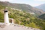 River Poqueira Gorge villages of Bubion and Pampaneira, High Alpujarras, Sierra Nevada, Granada province, Spain