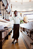 BERMUDA, Hamilton. Portrait of Chef Marcus Samuelsson at his Marcus' Restaurant at The Hamilton Princess & Beach Club Hotel.