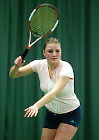 10-3-06, Netherlands, tennis, Rotterdam, National indoor junior tennis championchips, Evelien Strijker