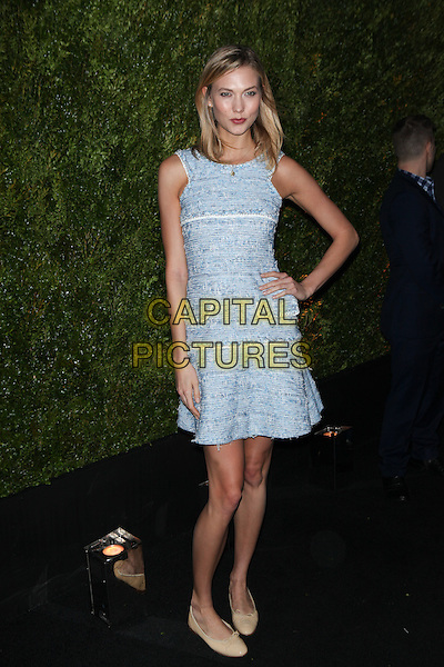 NEW YORK, NY - APRIL 20: Karlie Kloss at the 2015 Tribeca Film Festival Chanel artists dinner at Balthazar on April 20, 2015 in New York City.<br /> CAP/MPI/COR99<br /> &copy;COR99/MPI/Capital Pictures