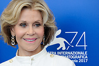 U.S. actress Jane Fonda attends a photo call for the movie 'Our Souls At Night' at the 74th Venice Film Festival, Venice Lido, September 1, 2017. <br /> UPDATE IMAGES PRESS/Marilla Sicilia<br /> <br /> *** ONLY FRANCE AND GERMANY SALES ***