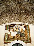 Frescoe and ceiling, San Gimignano, Siena-Tuscano, Italy