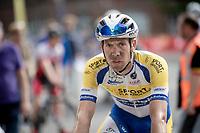 Benjamin Declercq's (BEL/Sport Vlaanderen - Baloise) post-race face<br /> <br /> Dwars door het Hageland 2019 (1.1)<br /> 1 day race from Aarschot to Diest (BEL/204km)<br /> <br /> ©kramon