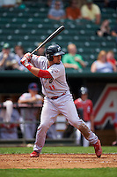 Reading Fightin Phils catcher Jorge Alfaro (11) at bat during a game against the New Hampshire Fisher Cats on May 30, 2016 at Northeast Delta Dental Stadium in Manchester, New Hampshire.  New Hampshire defeated Reading 9-1.  (Mike Janes/Four Seam Images)