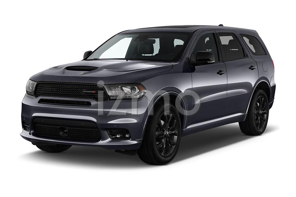 2019 Dodge Durango R/T RWD 5 Door SUV angular front stock photos of front three quarter view