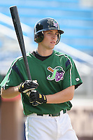Ben Lasater of the Jamestown Jammers, Class-A affiliate of the Florida Marlins, during New York-Penn League baseball action.  Photo by Mike Janes/Four Seam Images