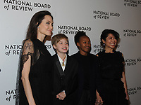 NEW YORK, NY - JANUARY 09: Angelina Jolie, Shiloh Jolie-Pitt, Zahara Jolie-Pitt, and Loung Ung attends the 2018 National Board Of Review Awards Gala at Cipriani 42nd Street on January 9, 2018 in New York City.  <br /> CAP/MPI/JP<br /> &copy;JP/MPI/Capital Pictures