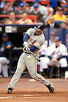 3 April 2006: Brian Schneider, catcher for the Washington Nationals at bat during Opening Day against the New York Mets at Shea Stadium, in Flushing, New York. The Mets defeated the Nationals 3-2 to lead off the 2006 MLB season...Mandatory Photo Credit: Ed Wolfstein Photo..