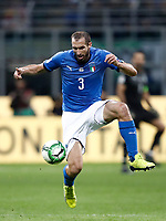 Soccer Football - 2018 World Cup Qualifications - Europe - Italy vs Sweden - San Siro, Milan, Italy - November 13, 2017 <br /> Italy's Giorgio Chiellini in action during the the FIFA World Cup 2018 qualification football match between Italy and Sweden at the San Siro Stadium in Milan on November 13, 2017.<br /> UPDATE IMAGES PRESS/Isabella Bonotto