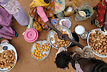 A scene in a small market in the Dereig Camp for families internally displaced by Darfur's conflict.