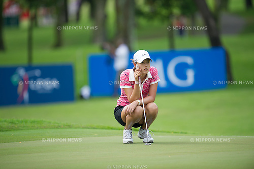 Michelle Wie (USA),.MARCH 3, 2013 - Golf :.Michelle Wie of United States lines up during the final round of the HSBC Women's Champions at Sentosa Golf Club in Singapore. (Photo by Haruhiko Otsuka/AFLO)