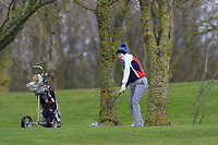 Luisa Lilian Vogt (GER) on the 1st during Round 1 of the Irish Girls U18 Open Stroke Play Championship at Roganstown Golf &amp; Country Club, Dublin, Ireland. 05/04/19 <br /> Picture:  Thos Caffrey / www.golffile.ie