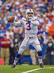 14 September 2014: Buffalo Bills quarterback EJ Manuel sets to pass during play against the Miami Dolphins at Ralph Wilson Stadium in Orchard Park, NY. The Bills defeated the Dolphins 29-10 to win their home opener and start the season with a 2-0 record. Mandatory Credit: Ed Wolfstein Photo *** RAW (NEF) Image File Available ***