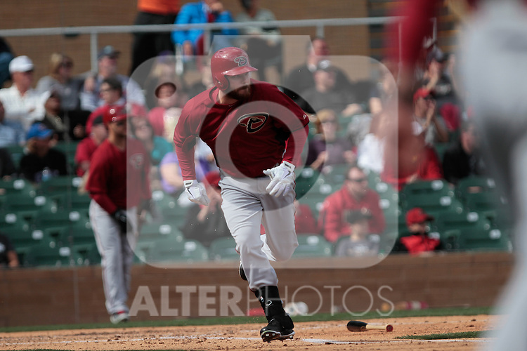 Jason Kubel  of Diamondbacks ,during   Colorado Rockies vs Arizona Diamondbacks, game of  Cactus league and Spring Trainig 2013..Salt River Fields stadium in Arizona. February 24, 2013