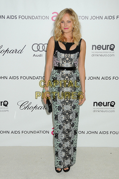 Malin Akerman .20th Annual Elton John Academy Awards Viewing Party held at West Hollywood Park, West Hollywood, California, USA..February 26th, 2012.oscars full length black green blue print dress purple pink.CAP/ADM/BP.©Byron Purvis/AdMedia/Capital Pictures.