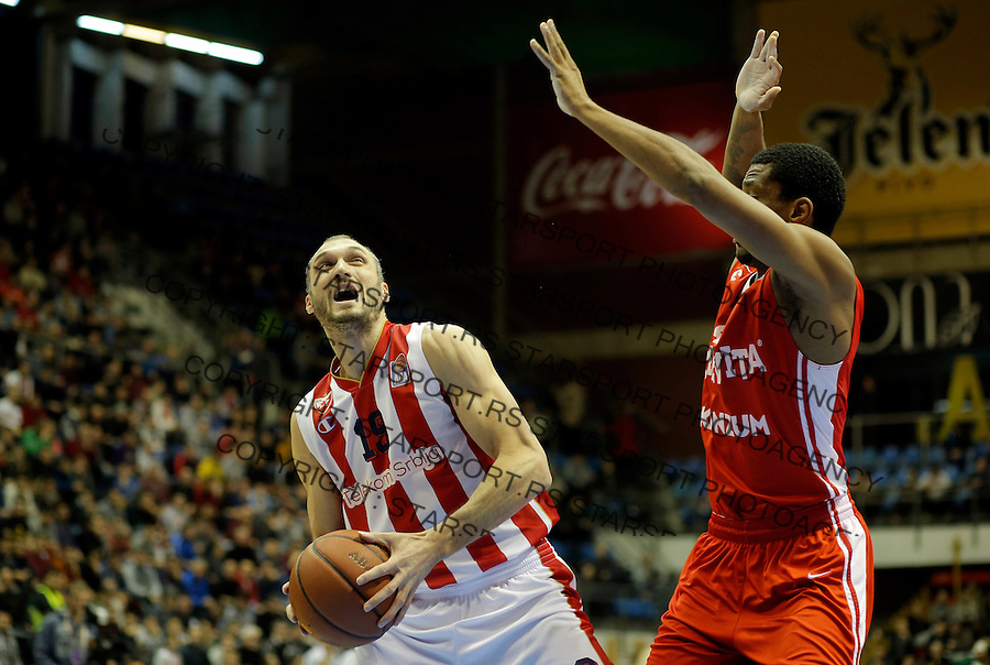 Marko Simonovic Crvena Zvezda - Cedevita kosarka ABA regionalna liga 4.1.1016. Januar 4. 2016. (credit image & photo: Pedja Milosavljevic / STARSPORT)