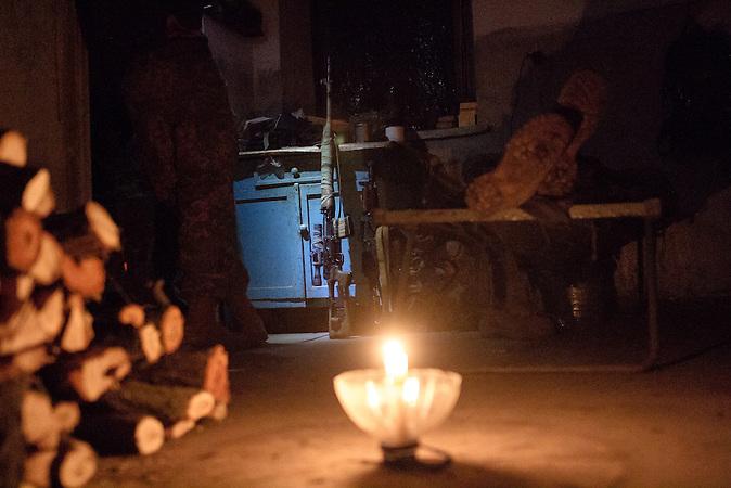 Stromausfall im Haus der georgischen Legion.