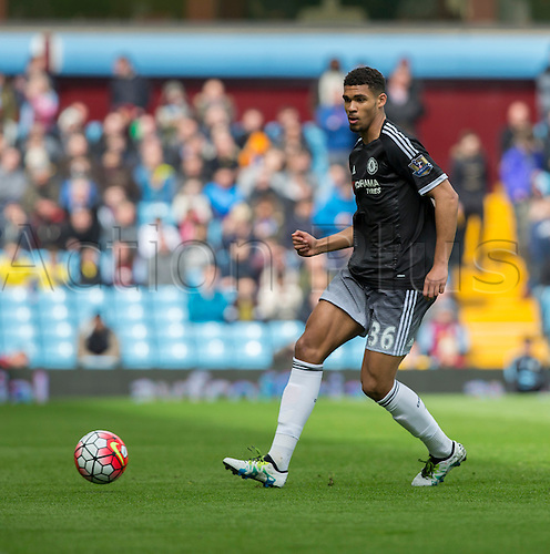02.04.2016. Villa Park, Birmingham, England. Barclays Premier League. Aston Villa versus Chelsea.  Chelsea midfielder Ruben Loftus-Cheek passing the ball.