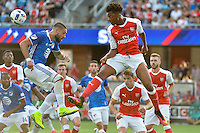 San Jose, CA - Thursday July 28, 2016: Clint Dempsey, Chuba Akpom during a Major League Soccer All-Star Game match between MLS All-Stars and Arsenal FC at Avaya Stadium.